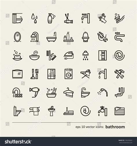 badkuip coaten set icons bathroom vector stockvector 196200602 shutterstock