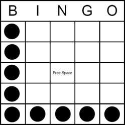 bingo pattern letter l