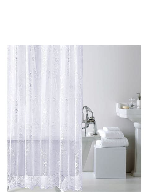 Lace Shower Curtains Lace Shower Curtain With Hooks Chums