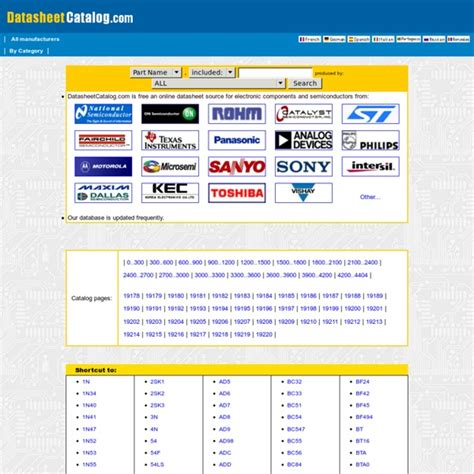 datasheet catalog for integrated circuits diodes triacs and other semiconductors view