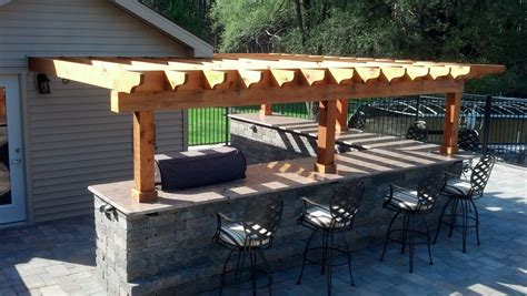 Outdoor Kitchen Arbor Pergola With Lights Quotes