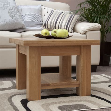 Small Living Room Coffee Table Kingston Solid Oak Living Room Lounge Furniture Small Square Coffee Table Ebay