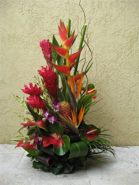 tropical flower arrangements centerpieces image gallery hawaiian flower arrangements