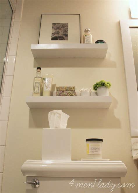 diy shelves for a bathroom 4men1lady bathroom ideas