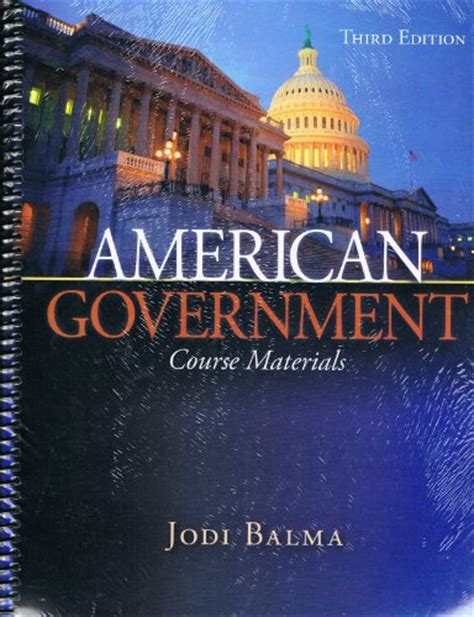 the government class book designed for the of youth in the principles of constitutional government and the rights and duties of citizens classic reprint books american government the course materials 9780078038709