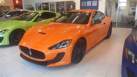 orange maserati orange maserati granturismo mc walround