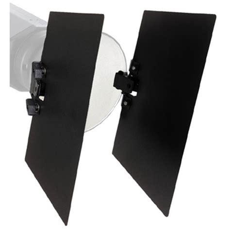 bowens barn doors bowens clip on two leaf barndoor set bw 1869 b h photo