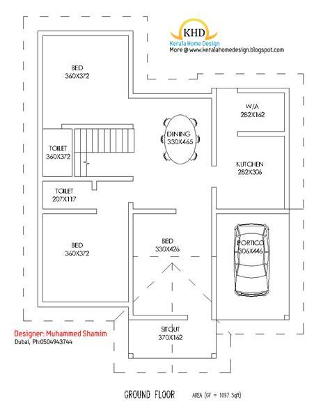 villa floor plans india beautiful 1637 sq ft villa plan and elevation kerala