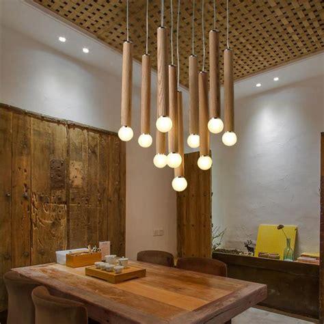 wood chandelier modern chinese japanese nordic creative