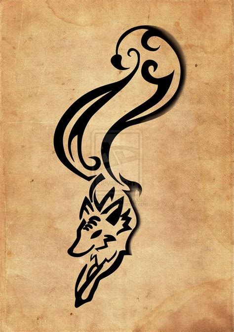 abstract tribal tattoos abstract fox idea the shape
