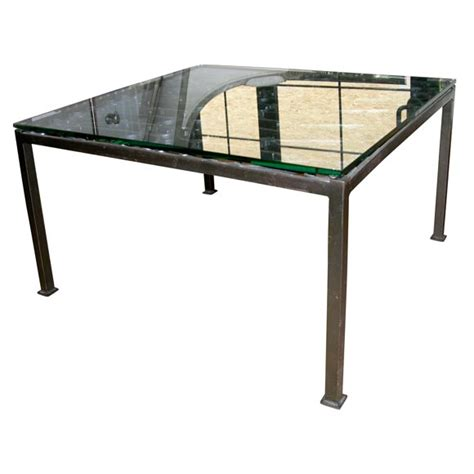 Black Iron Coffee Table Black Iron Gate Coffee Table With Glass Top At 1stdibs