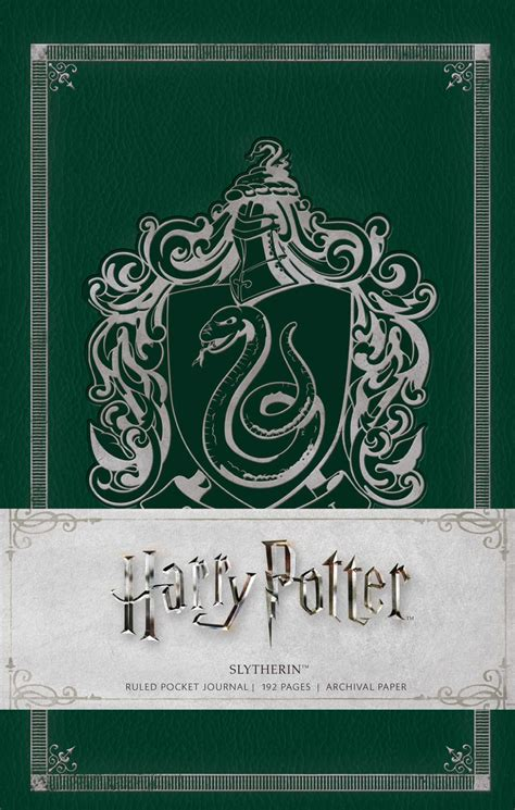 harry potter slytherin ruled notebook books harry potter slytherin ruled pocket journal book by
