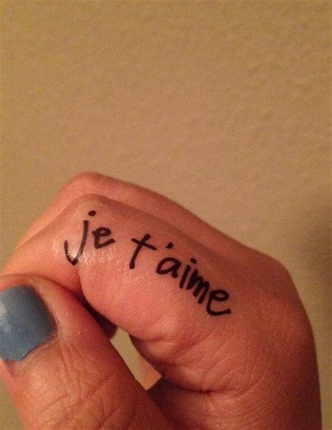 je t aime tattoo temporary handwritten je t aime tattoos i ll