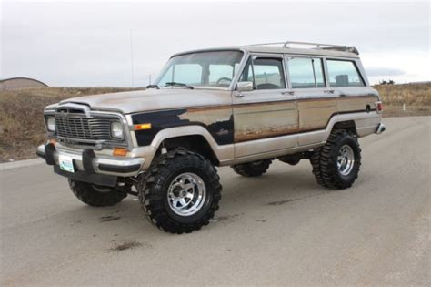 jeep wagoneer lifted 1982 jeep grand wagoneer limited 4x4 lifted runs like a