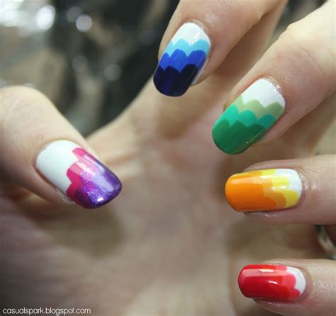 cool rainbow nail designs hative