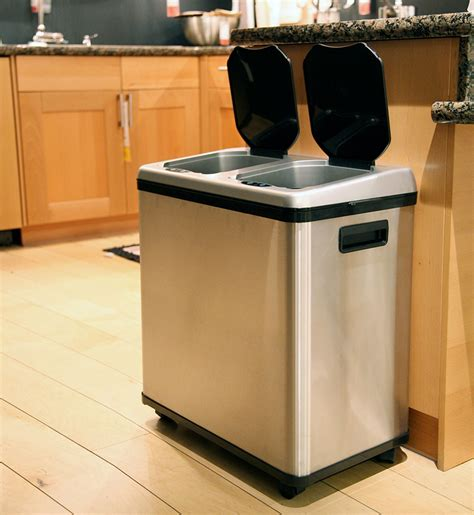 Kitchen Garbage by Touchless Garbage And Recycling Combo