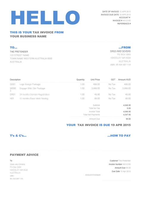 xero invoice template fields hello invoice xero themes
