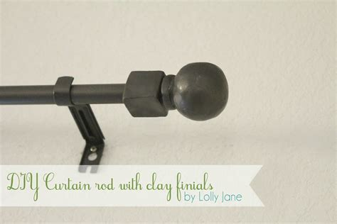 finials curtain rod lolly jane craft tutorials diy home decor diy curtain