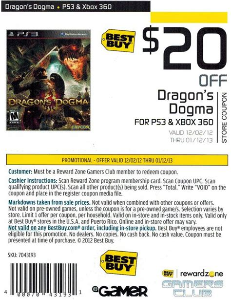 Get 20 At Best Buy - best buy 20 off dragon s dogma printable coupon
