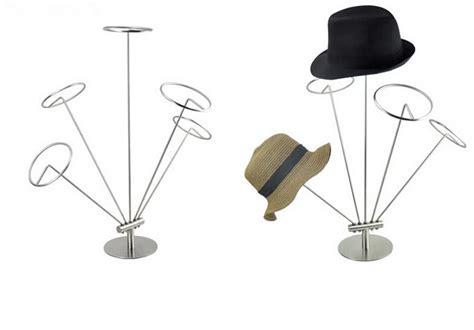 high grade stainless steel hat stand display rack metal