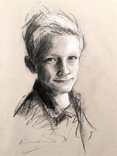 Drawing W Charcoal by The Gallery For Gt Charcoal Portrait