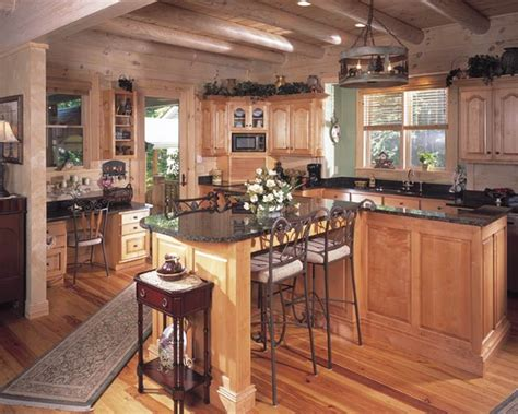 photos of a log home in