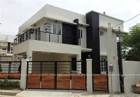 2 storey house plans in the philippines modern house 2 storey modern design cm builders