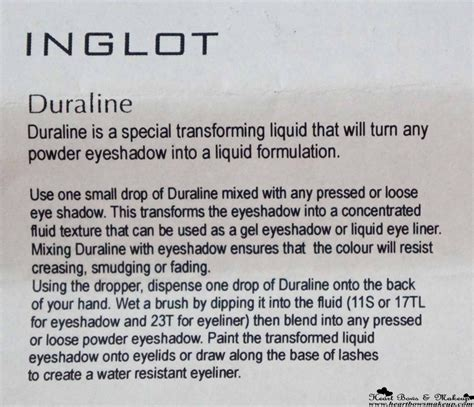 Inglot Duraline By Zeska Shop inglot duraline review a magic potion in a bottle