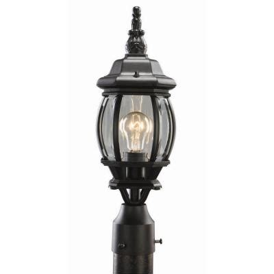 home depot outdoor post lighting design house canterbury black diecast outdoor post light