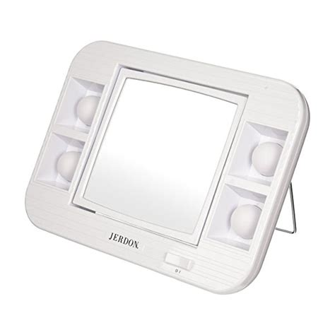 lighted makeup mirror with magnification maxiaids led lighted makeup mirror with 5x magnification