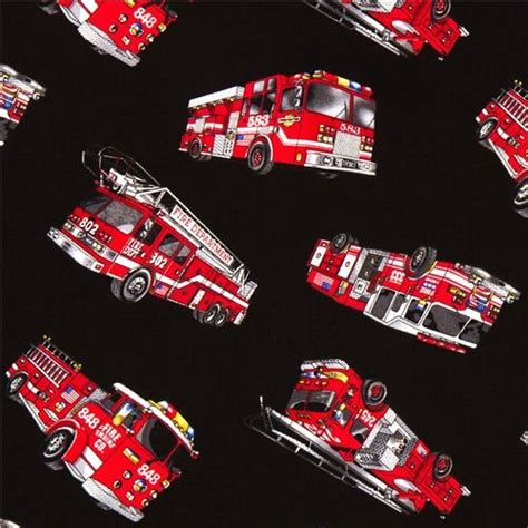 Ballard Designs Clocks black fire truck fabric by timeless treasures from the usa