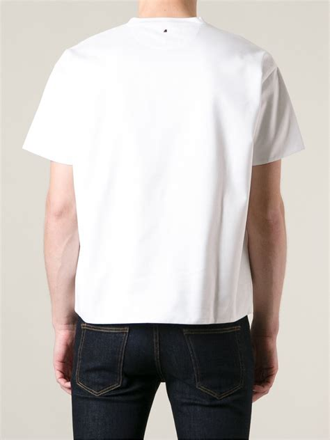 Valentino T Shirt lyst valentino boxy tshirt in white for