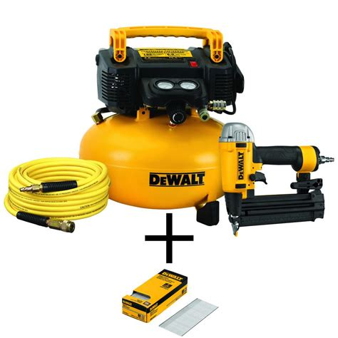 dewalt 6 gal heavy duty pancake electric air compressor and 18 brad nailer combo kit 1