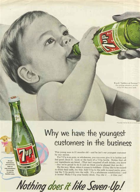 vintage tv commercials from the 1940s 50s 7 ads rewind 50s era 7up caign depicted soda guzzling