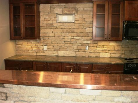 rock backsplash stone backsplash designs for your
