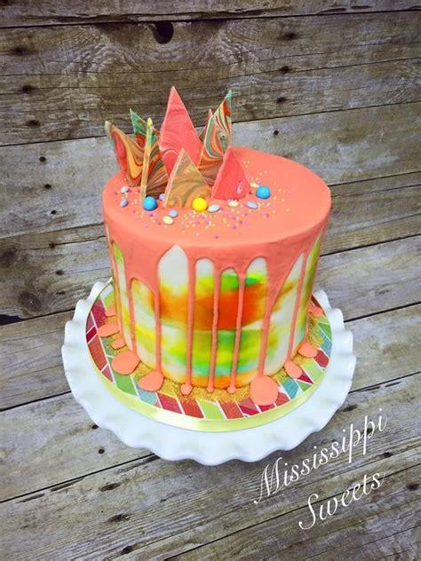 Chocolate Shard Cake Decorations by Drippy Cake Buttercream Birthday Cake White Chocolate Shards Cake Cake Cake
