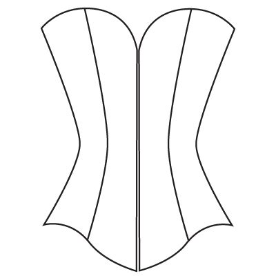 Free Corset Card Template by Custom Corset Pattern Underbust