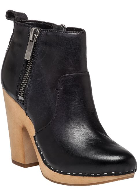dolce vita shoes dolce vita arlynn leather ankle boots in black lyst