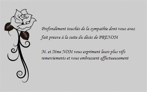 Exemple Lettre De Remerciement Condoleances Carte De Remerciement D 233 C 232 S Mod 232 Le Gratuit 224 Imprimer
