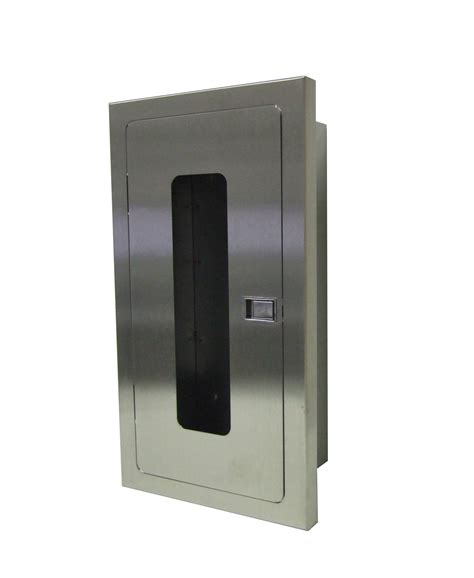 semi recessed fire extinguisher cabinet stainless steel stainless steel recessed fire extinguisher cabinets