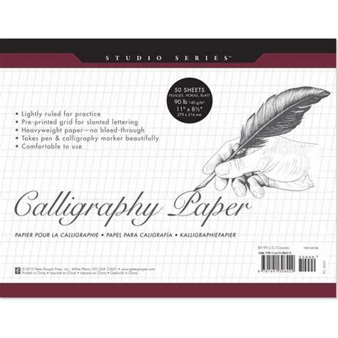 Pdf Studio Calligraphy Paper Heavyweight Sheets by Studio Series Calligraphy Paper Pad Set Of 50 Heavyweight