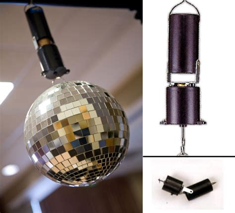 spinning motor battery operated motor for use with mirror balls up to 12