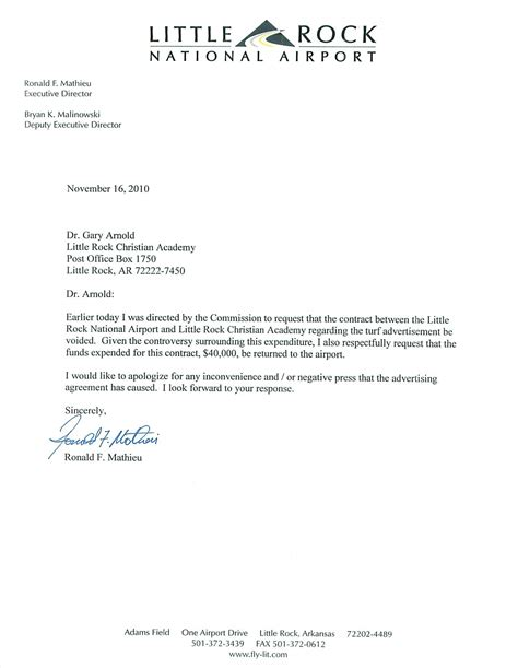Withdrawal Letter Daycare Sles Mathieu S Letter To Lr Christian Academy Mcdonald County Press