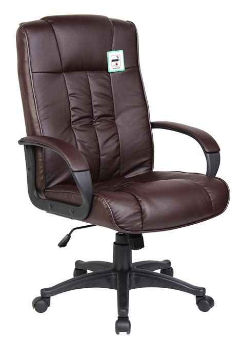 leather swivel desk chair brown swivel executive office furniture computer desk