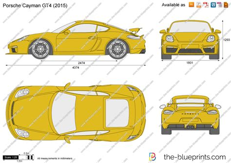 porsche vector the blueprints com vector drawing porsche cayman gt4