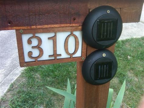 solar address sign yard address sign how to get the best quality home address signs garden design