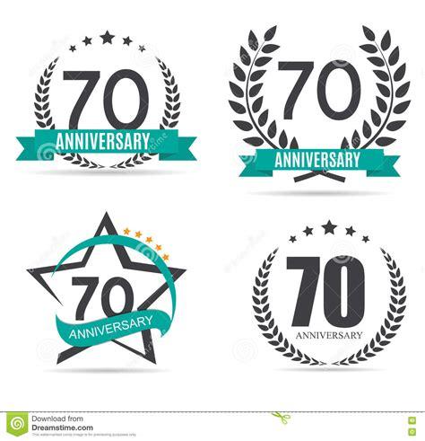 anniversary logo template template logo 70 years anniversary vector illustration