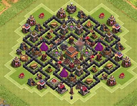 coc th8 base layout top 12 best th8 defense base 2018 new update