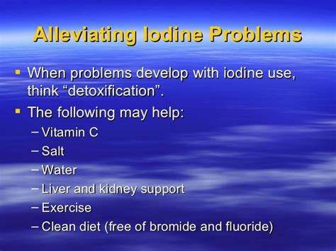 Iodine Detox Bubbly Urine by Iodine