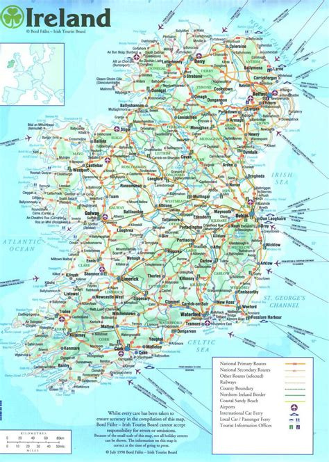 printable road maps ireland ireland map pdf